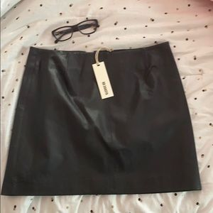 Brand New with Tags Black leather skirt